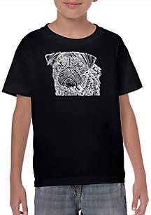 2ff8ff368d ... LA Pop Art Boys 8-20 Word Art T Shirt - Pug Face