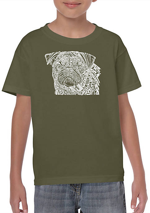 Boys 8-20 Word Art Graphic T-Shirt - Pug Face