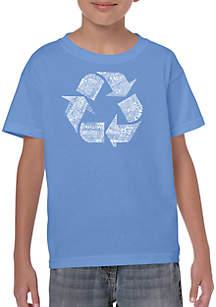 LA Pop Art Boys 8-20 Word Art T Shirt - 86 Recyclable Products
