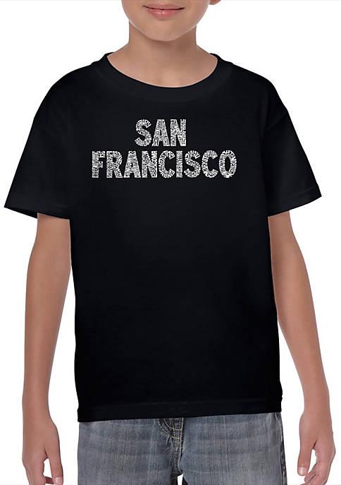 Boys 8-20 Word Art T Shirt - San Francisco Neighborhoods