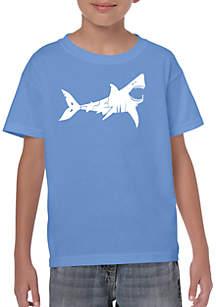 LA Pop Art Boys 8-20 Word Art T Shirt - Bite Me