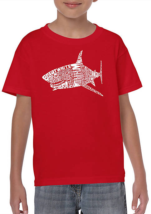 Boys 8-20 Word Art T Shirt - Species of Shark