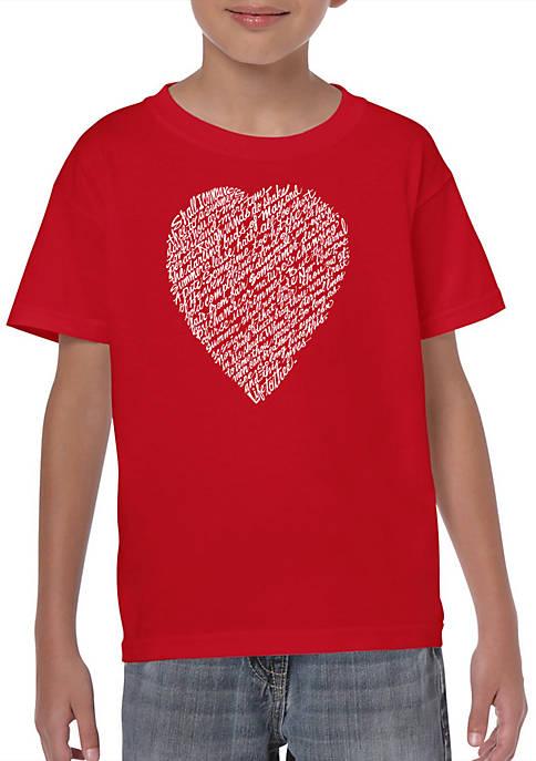 Boys 8-20 Word Art T Shirt - William Shakespeares Sonnet 18