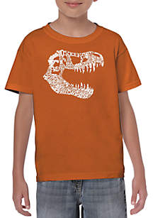 05740c05 ... LA Pop Art Boys 8-20 Word Art T Shirt - T Rex