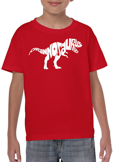 Boys 8-20 Word Art T Shirt - Tyrannosaurus Rex