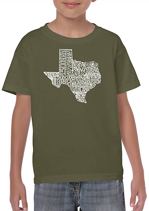 Boys 8-20 Word Art Graphic T-Shirt - The Great State of Texas