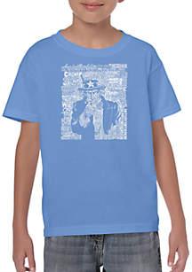 LA Pop Art Boys 8-20 Word Art T Shirt - Uncle Sam