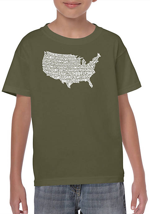 Boys 8-20 Word Art Graphic T-Shirt - The Star Spangled Banner