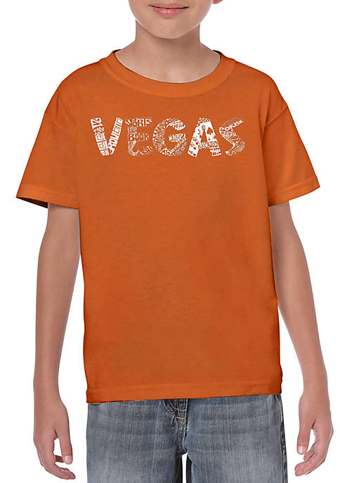 Boys 8-20 Word Art T Shirt - Vegas