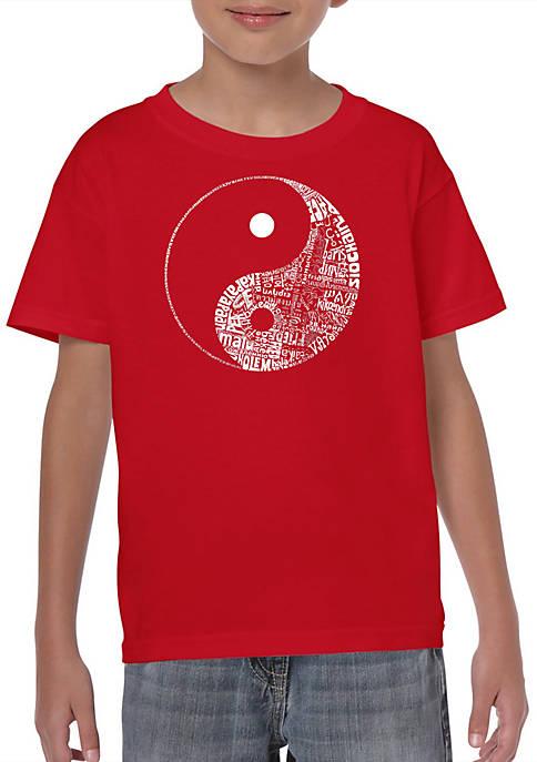 Boys 8-20 Word Art Graphic T-Shirt - Yin Yang