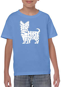LA Pop Art Boys 8-20 Word Art T Shirt - Yorkie