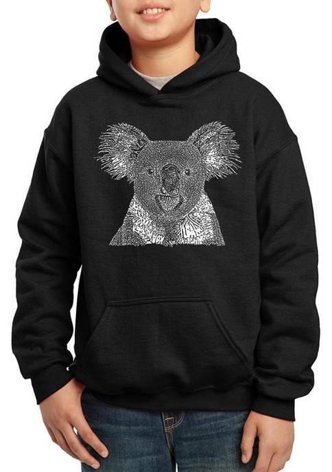 Boys 8-20 Word Art Hooded Graphic Sweatshirt - Koala