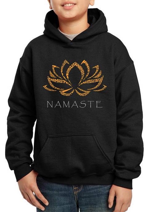 Boys 8-20 Word Art Hooded Graphic Sweatshirt - Namaste