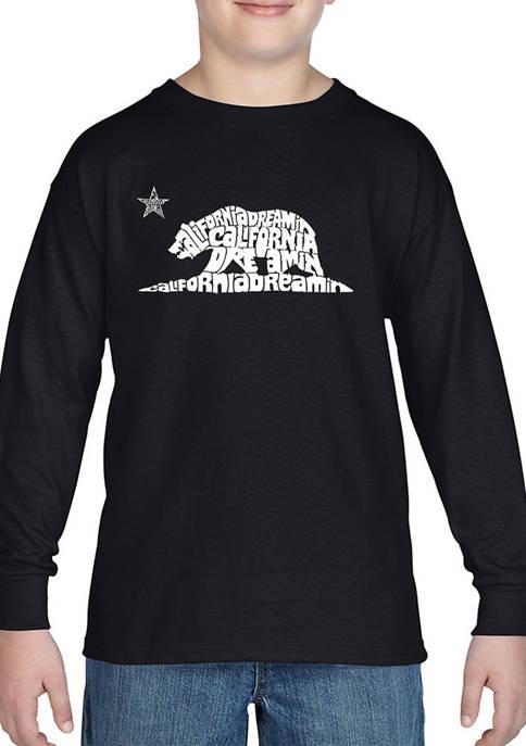 Boys 8-20 Word Art Long Sleeve Graphic T-Shirt - California Dreamin