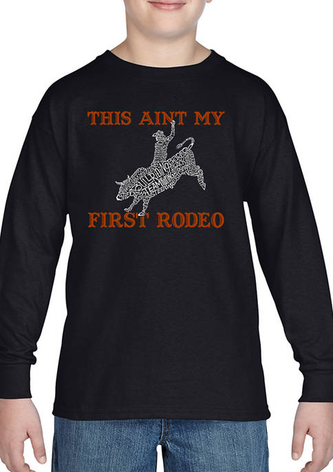 Boys 8-20 Word Art Long Sleeve Graphic T-Shirt - This Aint My First Rodeo