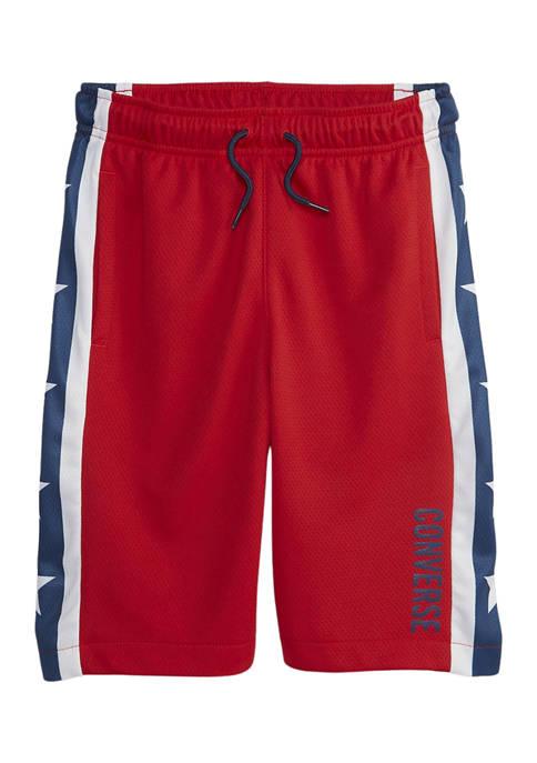 Converse Boys 8-20 Convertible Star Stripe Mesh Shorts