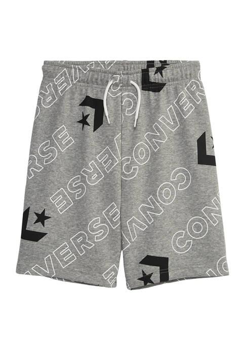 Converse Boys 8-20 Convertible Wordmark Print Graphic Shorts