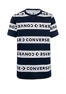 Converse Boys 8-20 Stripe Wordmark Tee