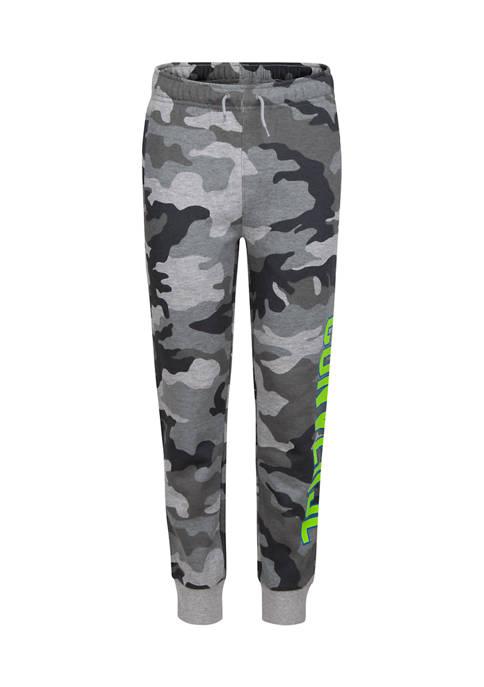 Boys 8-20 Collegiate Camo Fleece Pants