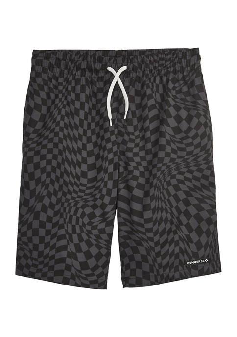Converse Boys 8-20 Wavy Checkered Swim Trunks