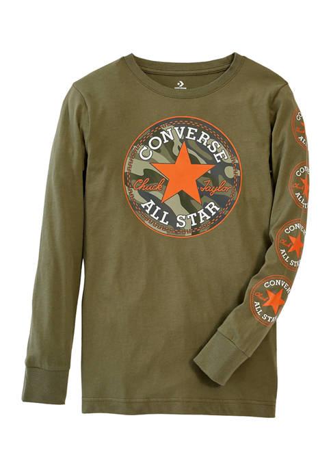 Converse Boys 8-20 Camo Long Sleeve T-Shirt