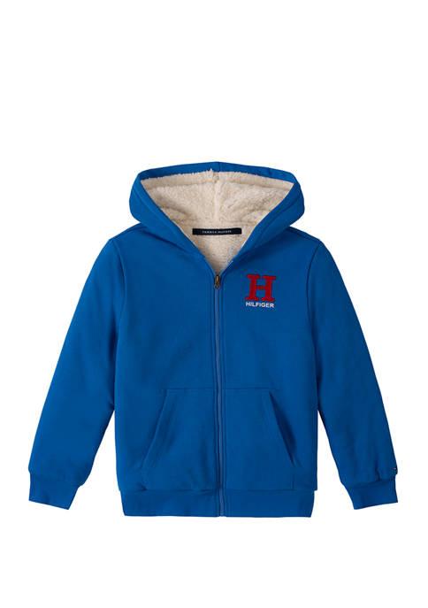 Boys 8-20 Matt Logo Sherpa Hoodie