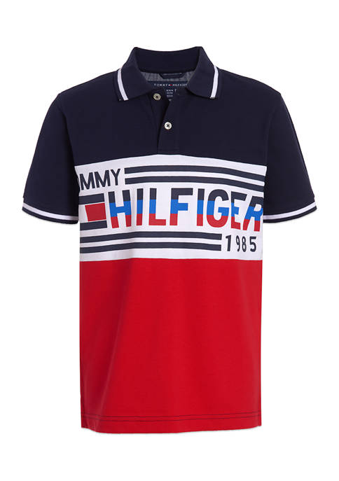 Tommy Hilfiger Boys 8-20 Pieced Graphic Polo
