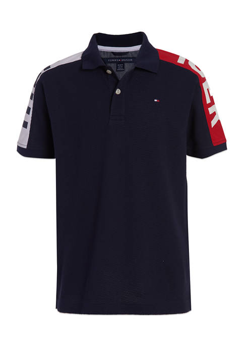 Tommy Hilfiger Boys 8-20 Graphic Sleeve Polo