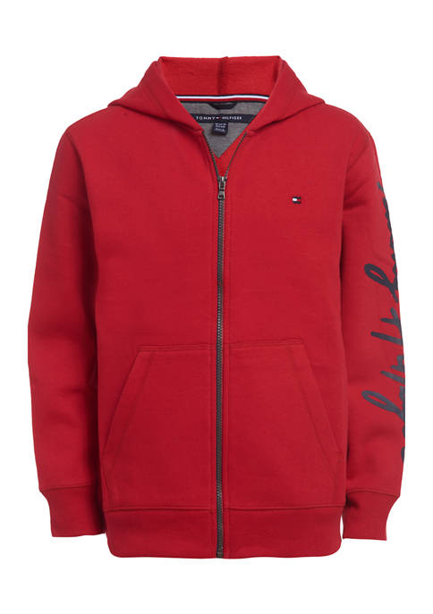 Boys 8-20 Logo Sleeve Hooded Jacket
