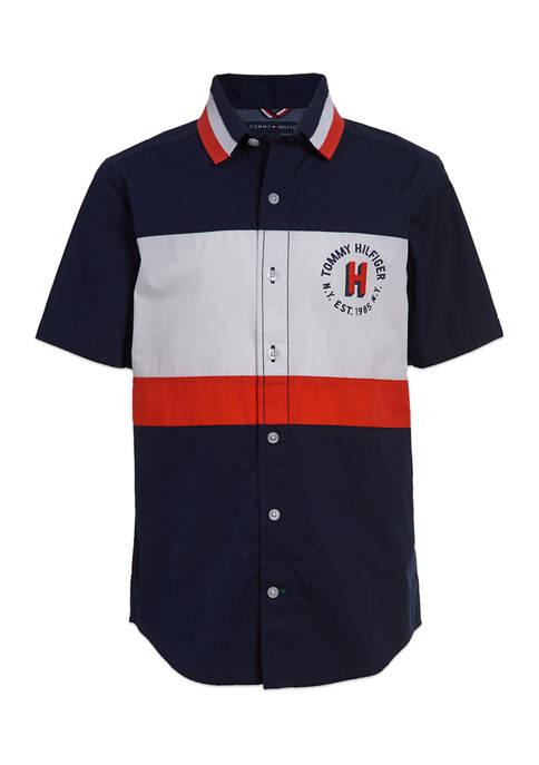 Tommy Hilfiger Boys 8-20 Color Block Short Sleeve