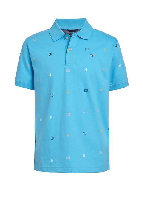 Boys 8-20 Logo Print Polo Shirt