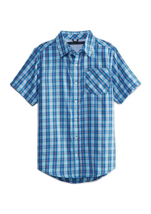 Tommy Hilfiger Boys 8-20 Short Sleeve Woven Shirt