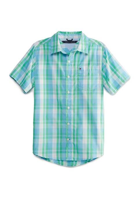 Tommy Hilfiger Boys 8-20 Clay Short Sleeve Woven