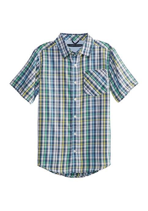 Boys 8-20 Short Sleeve Woven Shirt