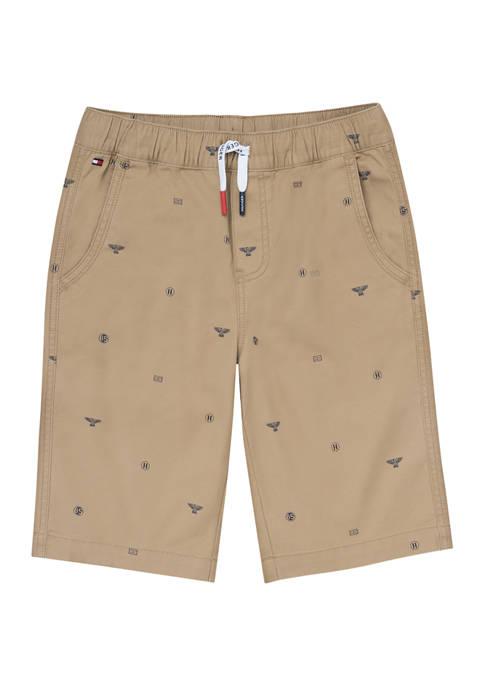 Boys 8-20 Nautical Stamp Print Shorts