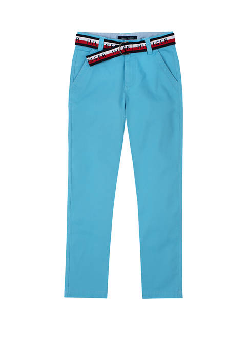 Boys 8-20 David Flat Front Belted Pants