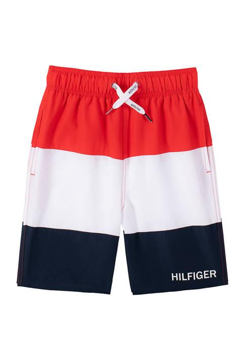 Tommy Hilfiger Boys 8-20 Color Block Swim Trunks