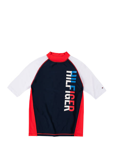 Tommy Hilfiger Boys 8-20 Color Block Rashguard