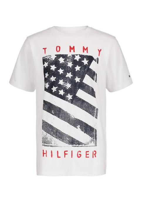 Boys 8-20 Short Sleeve Flag Graphic T-Shirt