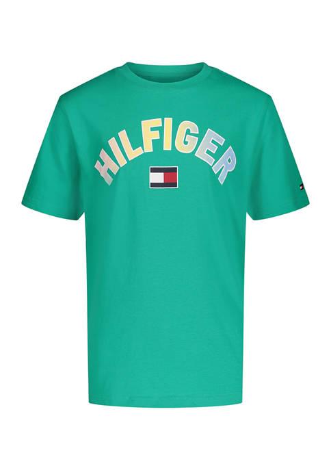 Boys 8-20 Short Sleeve Ombré Logo Graphic T-Shirt