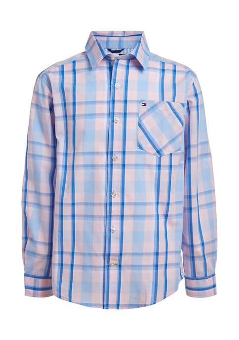 Boys 8-20 Long Sleeve Prep Check Shirt