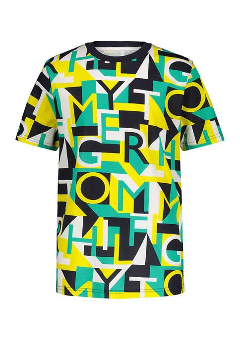 Boys 8-20 Puzzle Geo Print T-Shirt