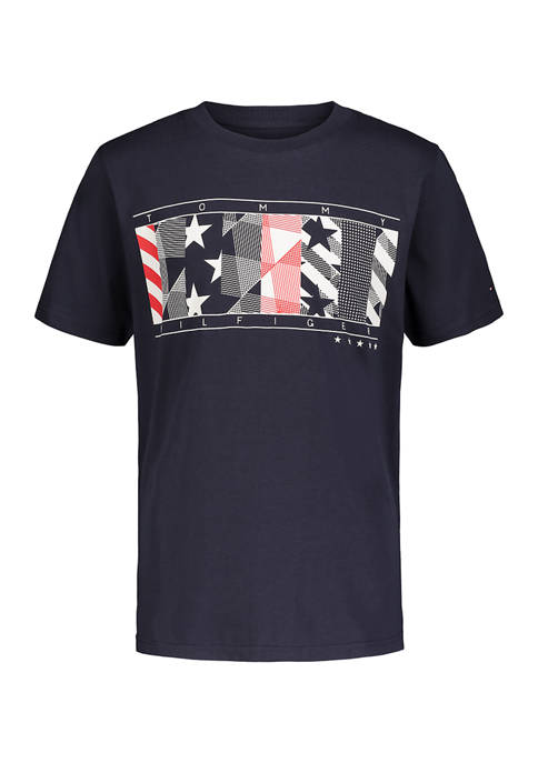 Tommy Hilfiger Boys 8-20 Abstract Graphic Short Sleeve