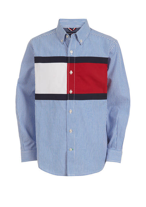 Boys 8-20 Palo Poplin Shirt