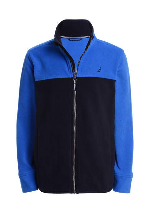 Nautica Boys 8-20 Full Zip Colorblock Fleece