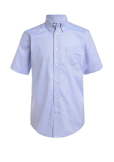 Boys 8-20 Short Sleeve Oxford Dress Shirt