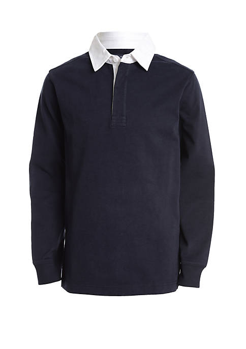 Nautica Boys 4-7 Long Sleeve Rugby Shirt