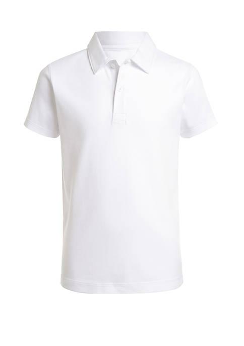 Boys 4-7 Sensory Short Sleeve Interlock Polo Shirt