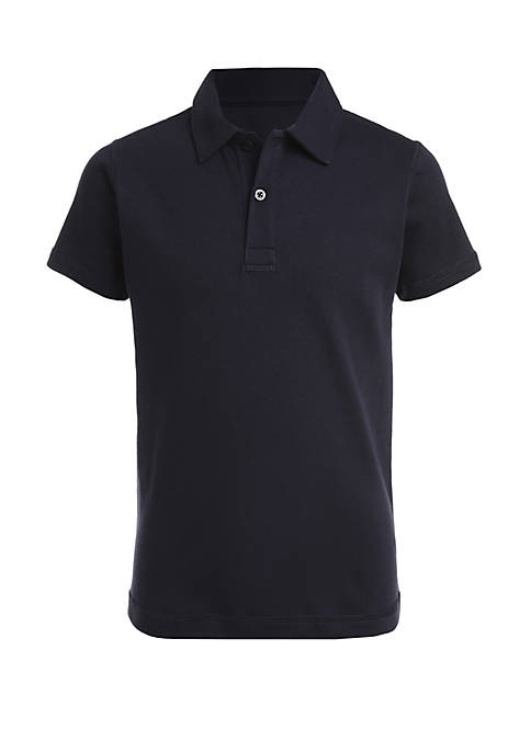 Boys 8-20 Sensory Short Sleeve Interlock Polo Shirt