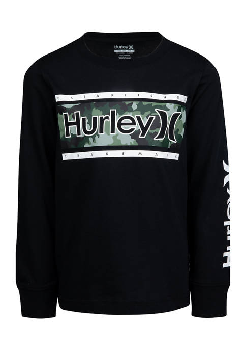 Hurley® Boys 8-20 Long Sleeve Graphic T-Shirt